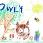 Owly, artwork by Zinnia Clifford