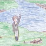 Katniss Everdeen, artwork by Sophia Escudero