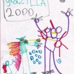Godzilla, artwork by Logan Kindley