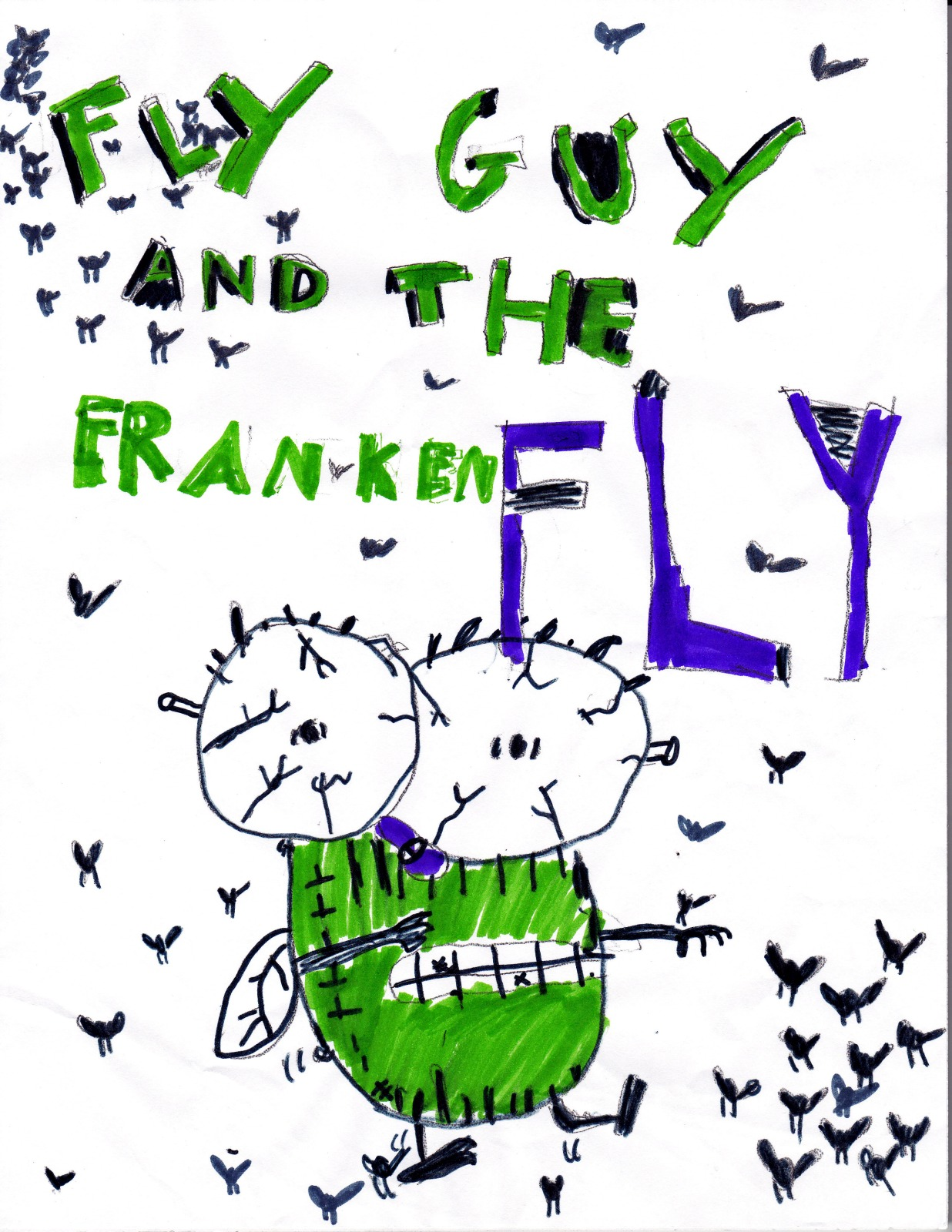 Fly Guy and the Frankenfly, artwork by Danielle Anderson
