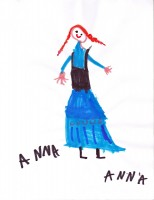 Anna from Frozen, artwork by Anna McLaughlin