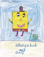 Spongebob Squarepants & Gary, artwork by Mindy May Perkins