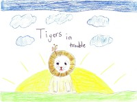 Tigers In Trouble, artwork by Phoebe Brodkorb