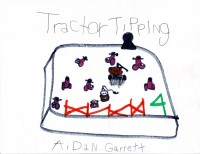 Tractor Tipping, artwork by Aidan Garrett