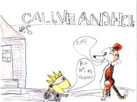 Calvin and Hobbs, artwork by Keegan Smith