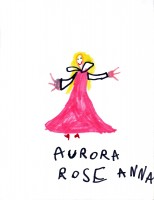 Aurora Rose, artwork by Anna McLaughlin