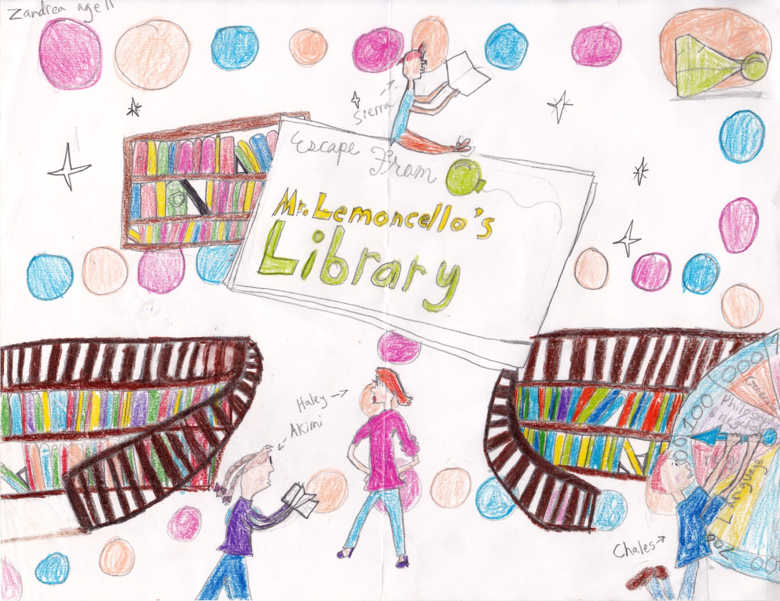 Escape From Mr. Lemoncello's Library, artwork by Zandrea Thompson
