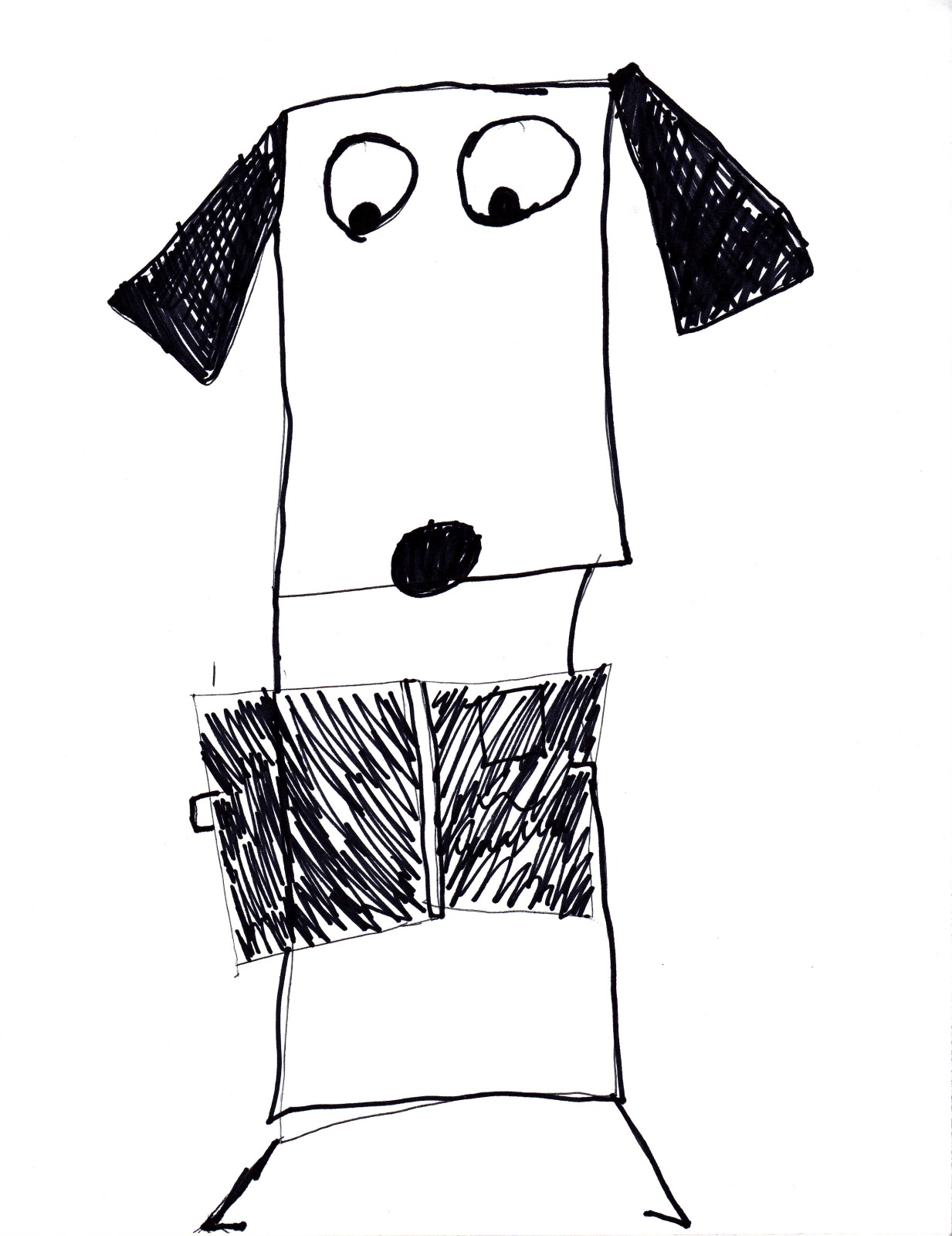 Stick Dog 3, artwork by Natalie Anderson