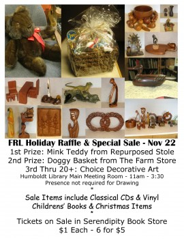 Nov 22 FRL Holiday Raffle & Sale