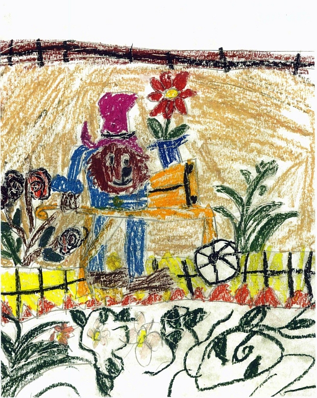Paddington Bear In The Garden - L.Faria