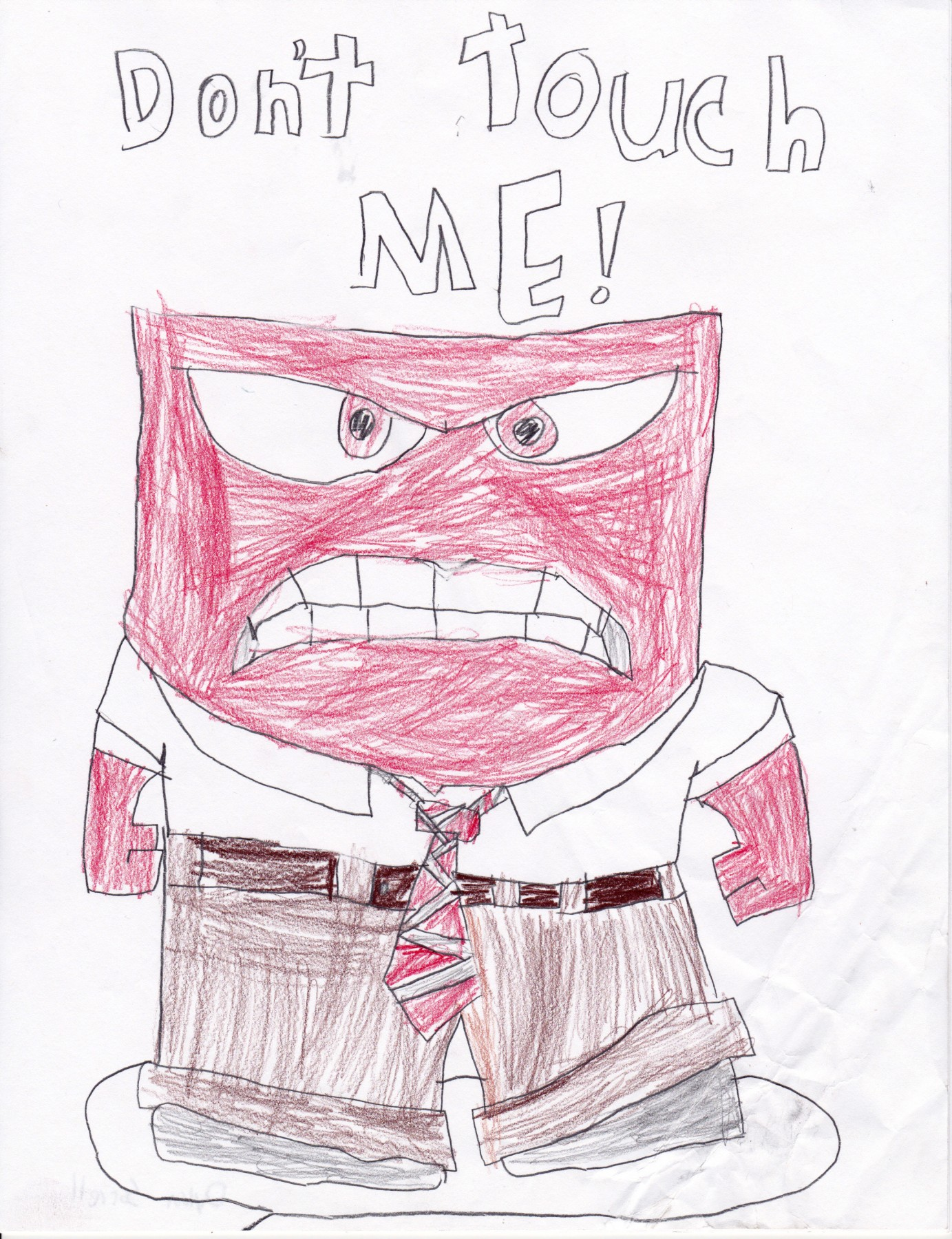 Anger Off of Inside Out, by Dylan Sorrell - Age 11