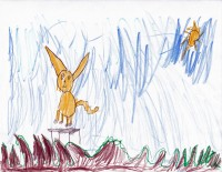 Skippyjon Jones on a Trampoline, by Daniella Heinzen - Age 5