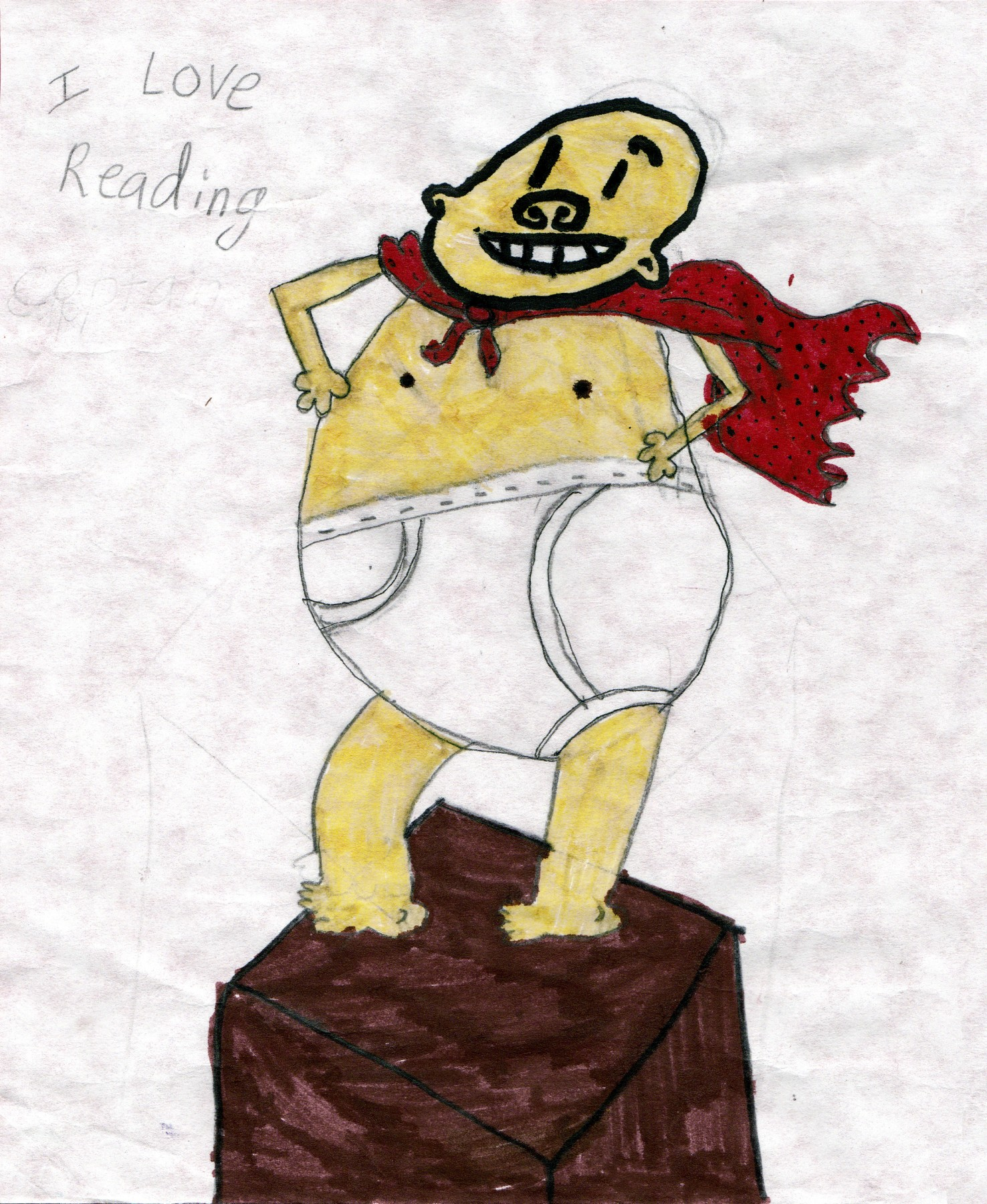 Captain Underpants, by Brooke Nix - Age 8