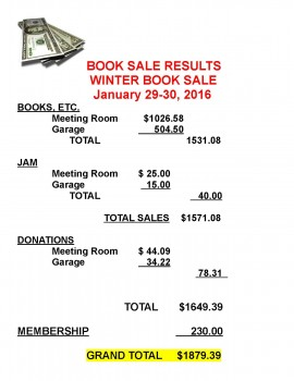 Jan 29-30 Booksale