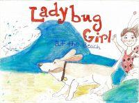 Lady Bug Girl At The Beach