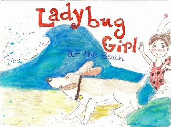 Lady Bug Girl At The Beach