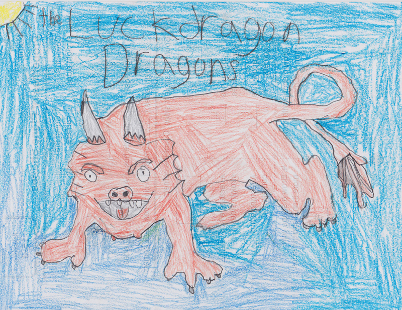 Reed Bremer, Age 8, Dragons