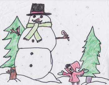 Autumn Rose Morales, Age 9, The Biggest Snowman