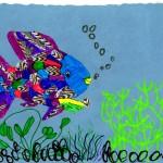 Rainbow Fish, artwork by Rebecca Palubicki