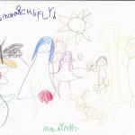 Monarch Butterfly, artwork by Malayna Jantz