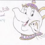Mrs. Potts and Chip, artwork by Madison Kepner