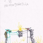 Godzilla vs MechaGodzilla, artwork by Logan Kindley