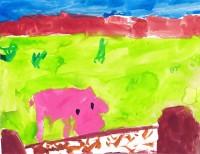Wilbur from Charlotte's Web, artwork by Evangeline Sleeth‐Keppler