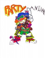 Garfield Party Animal, artwork by Frida Shea