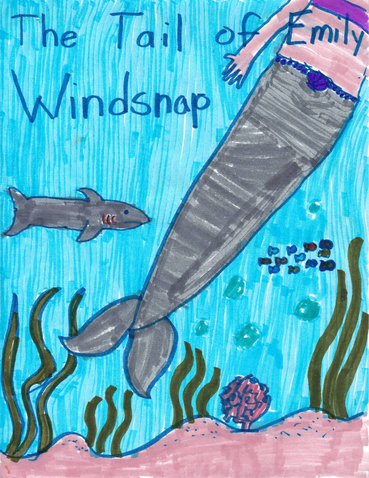 The Tail of Emily Windsnap, artwork by Katherine Cornish