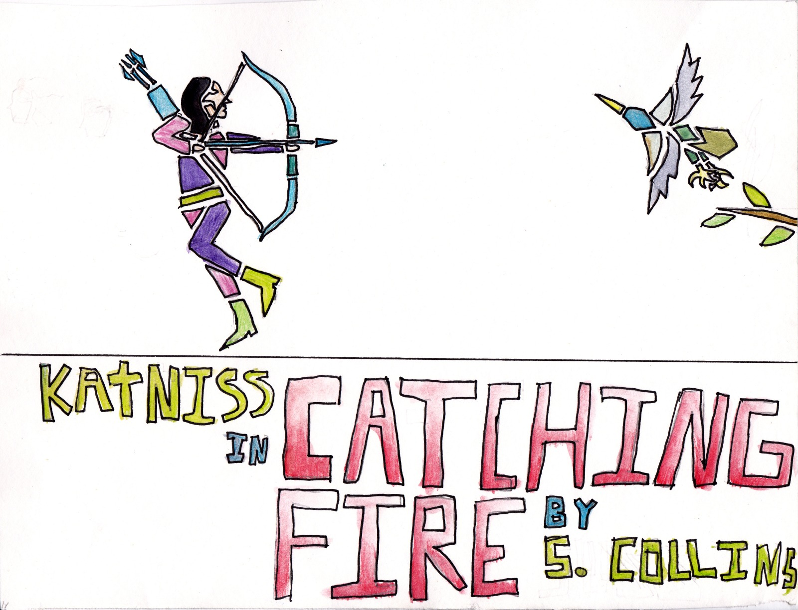 Katniss in Catching Fire, artwork by Amaya Bechler