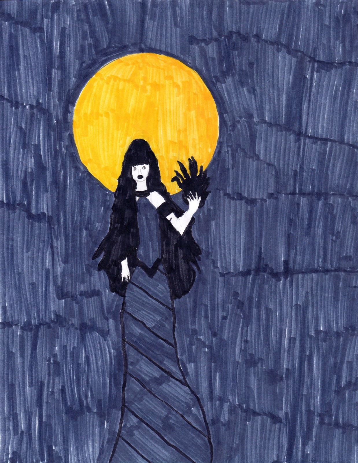 Nyx; House of Hades, artwork by Olivia Joachim