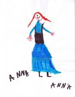 Anna from Frozen, artwork by Anna McLaughlin