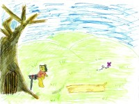 Winnie The Pooh, artwork by Cora Dandeneau