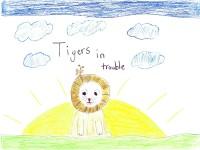 Tigers In Trouble, artwork by Phoebe Brodkorb