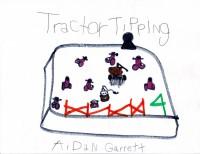 Tractor Tipping, artwork by Aidan Garrett