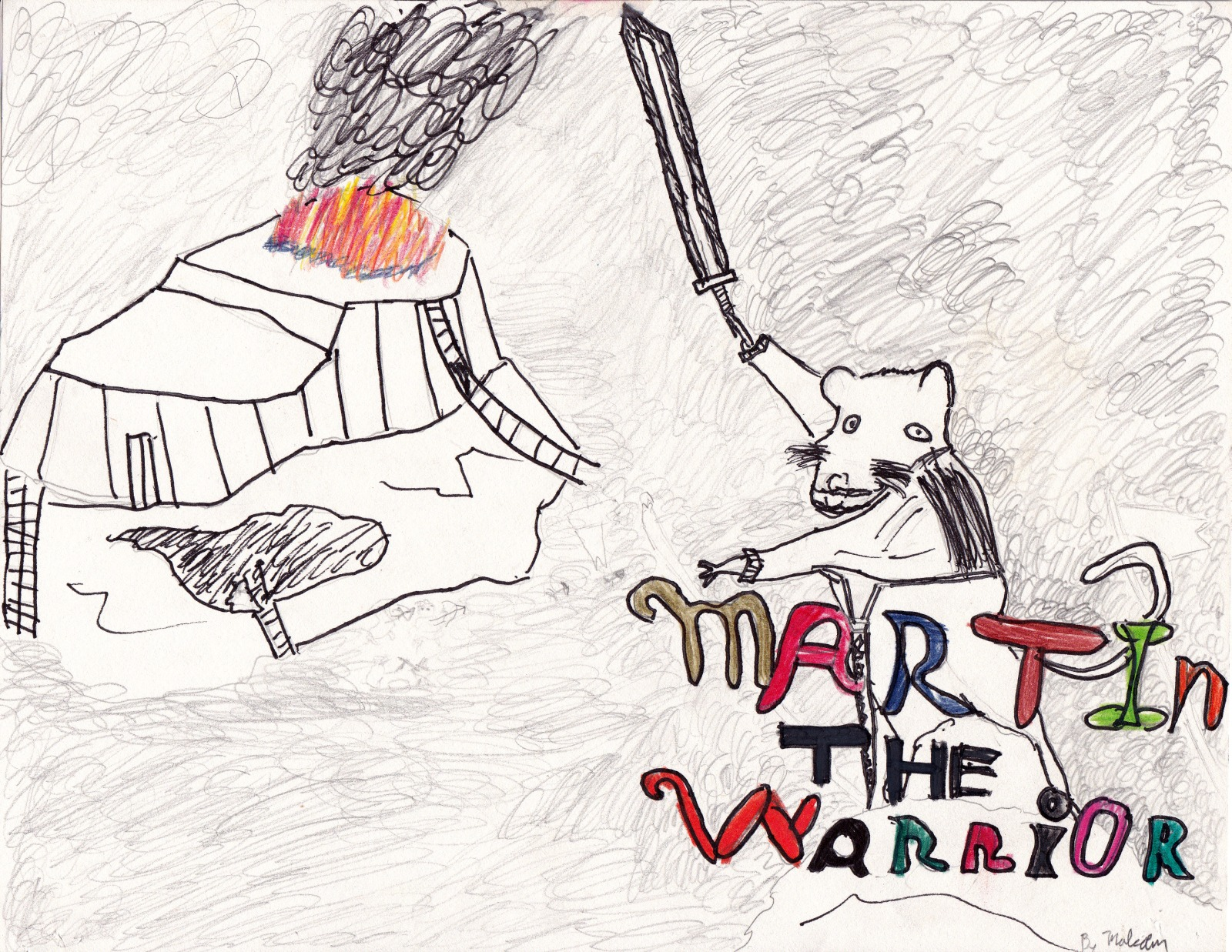 Martin the Warrior, artwork by Malcolm Seemann