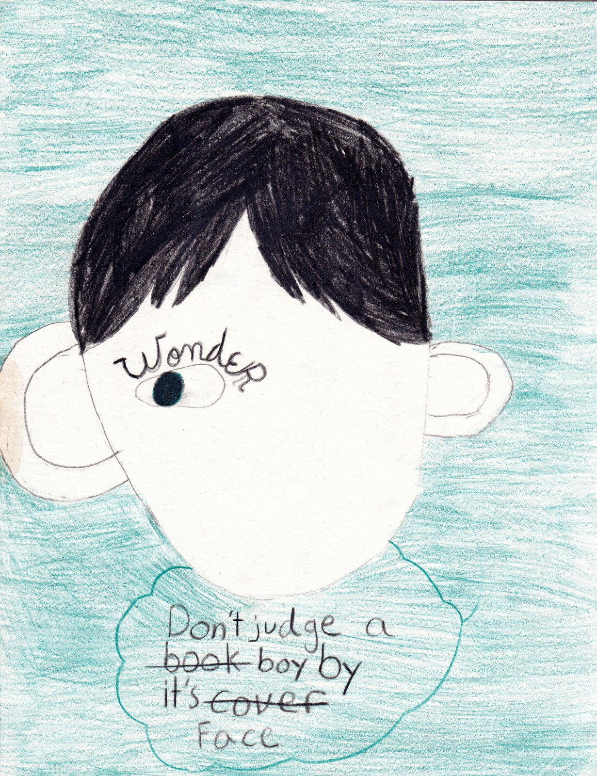 Wonder: Don't Judge A Boy, artwork by Ty Vizenor