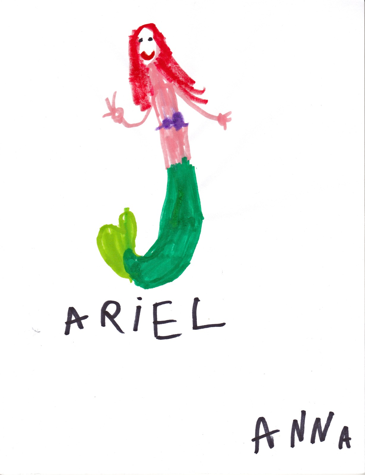 Ariel, artwork by Anna McLaughlin