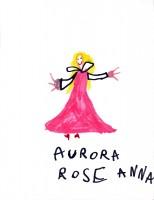 Aurora Rose, artwork by Anna McLaughlin