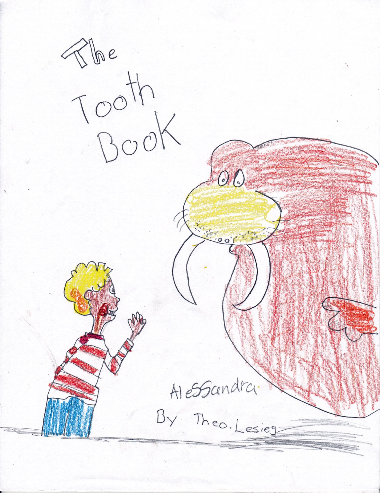 The Tooth Book by Theo Lesieg, artwork by Alessandra Palmer