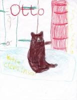 Otto Bear, artwork by Natalie Carlson