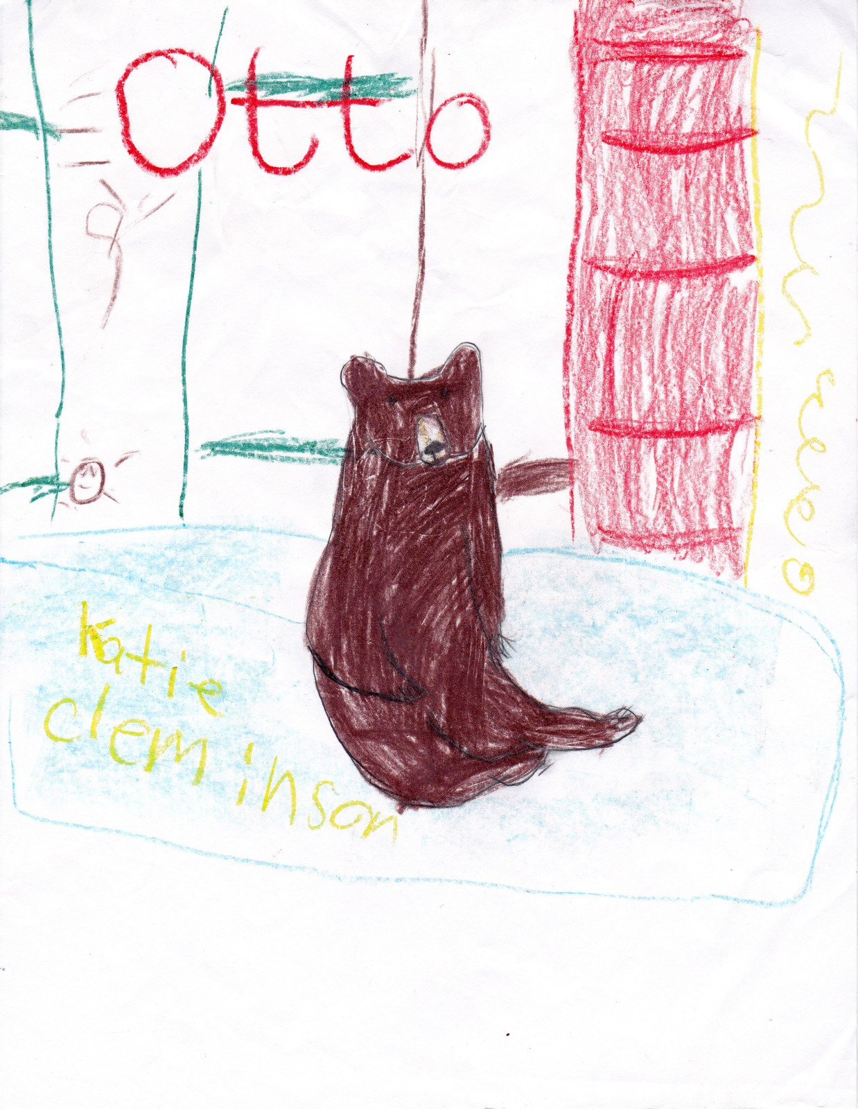 Otto Bear, artwork by Natalie Carlson
