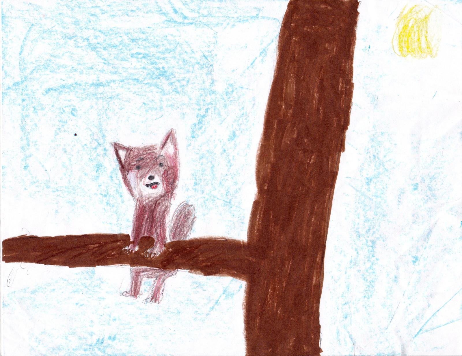 Red Pandas, artwork by Natalie Carlson