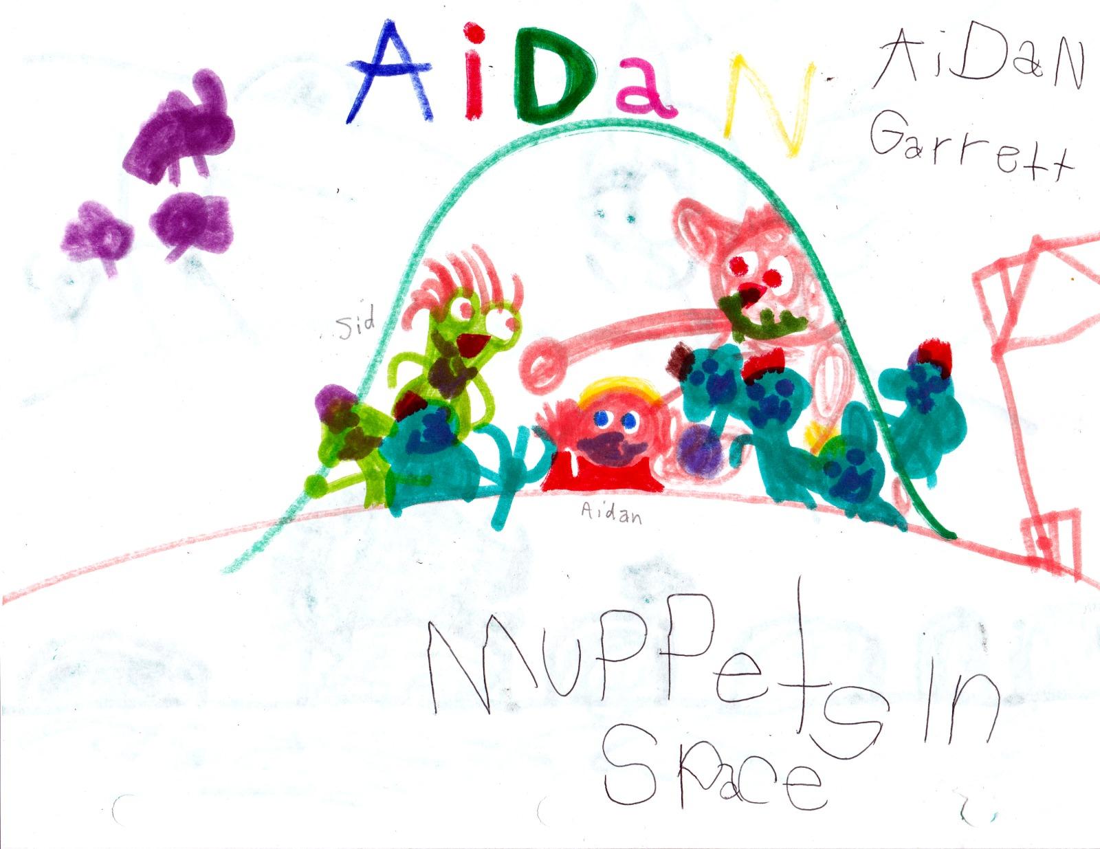 Muppets in Space, artwork by Aidan Garrett