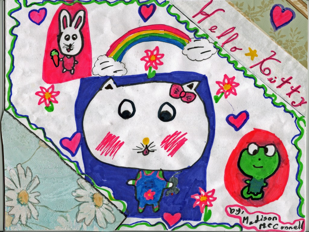 Hello Kitty, artwork by M. McConnell