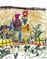 Paddington Bear In The Garden - L.Faria
