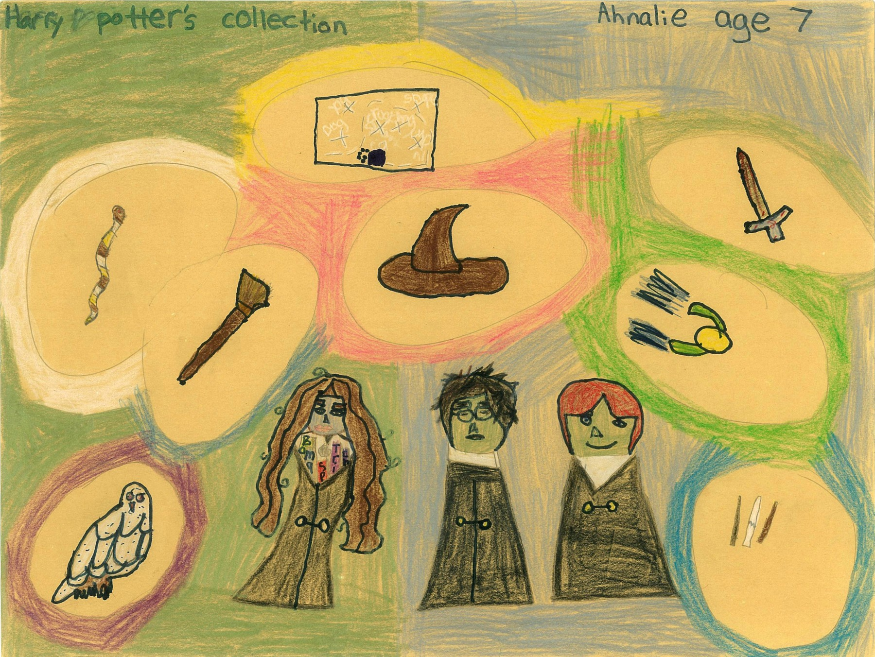 Harry Potter's Collection, by Ahnalie DeBruyn - Age 7