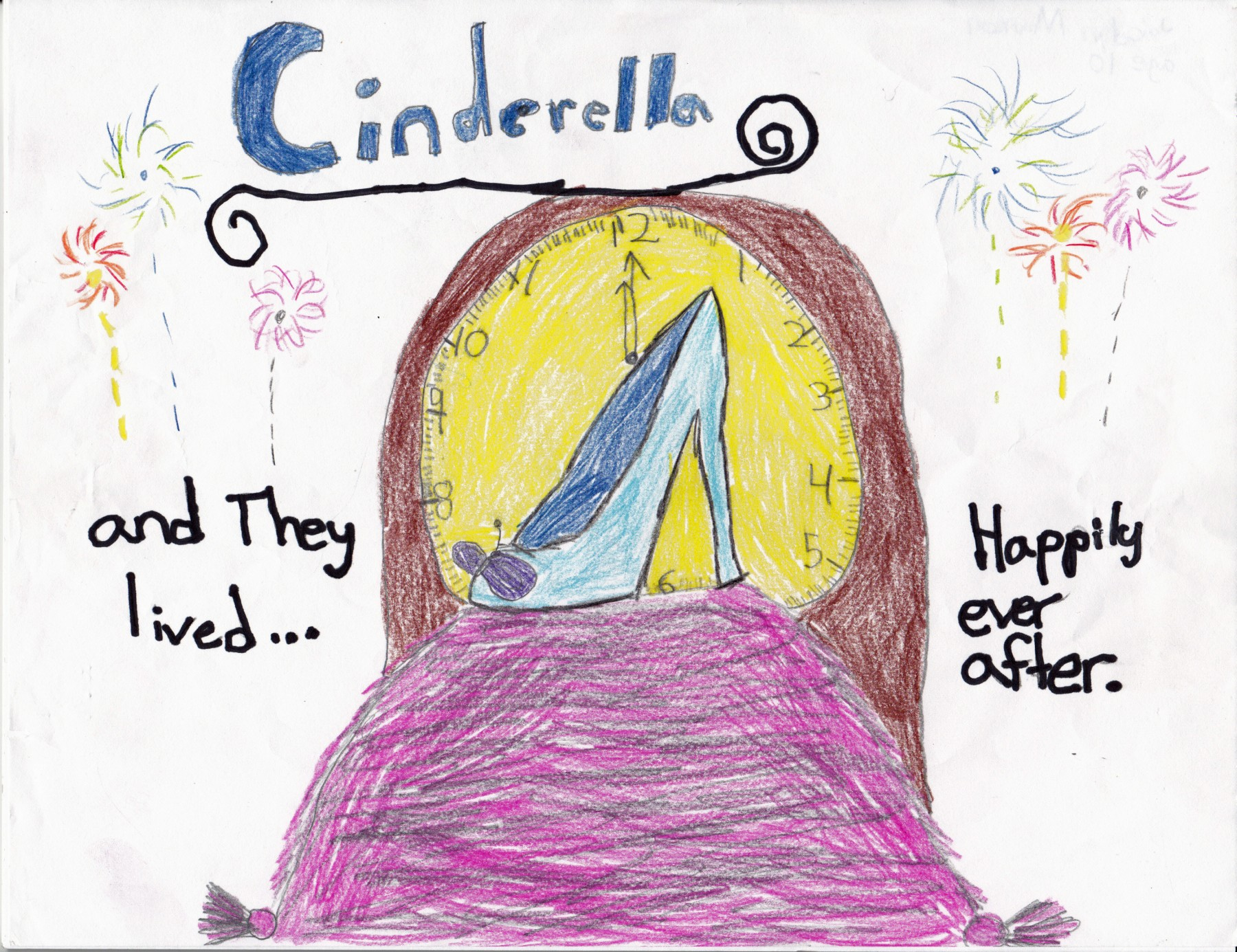 Glass Slipper from Cinderella, by Joicelyn Manson - Age 10