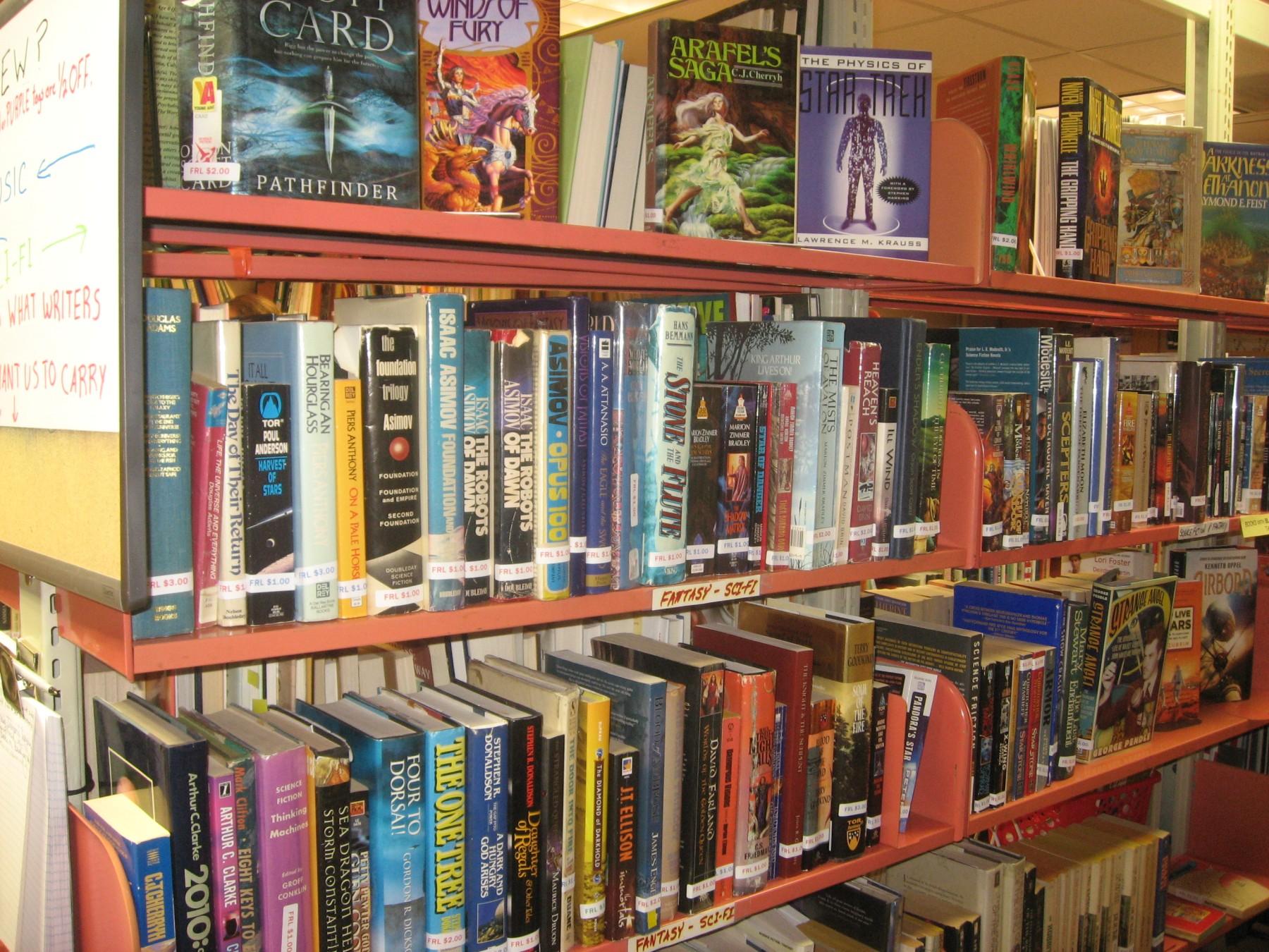 Serendipity shelves
