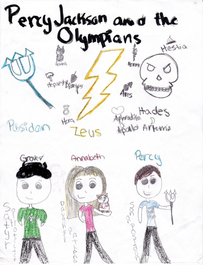 Percy Jackson and the Olympians, artwork by Lindsay Rimmer